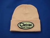 Cletrac-bkwh-pink knit beanie