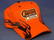 Economy Power King - Orange Black Flame Hat