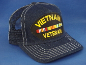 Vietnam Veteran-denim mesh